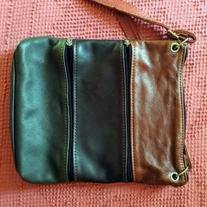 Boho faux leather purse